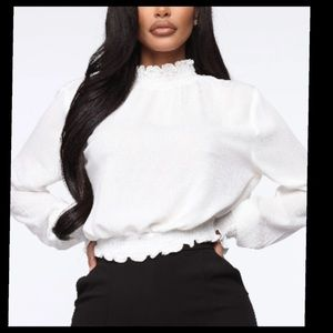 Levels to this up Smocked blouse